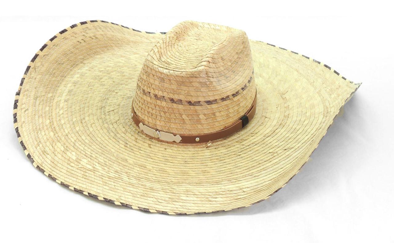 030cb515d7f3a Dasher Palm Straw Hat Adjustable Extra Wide Brim Adjustable ...