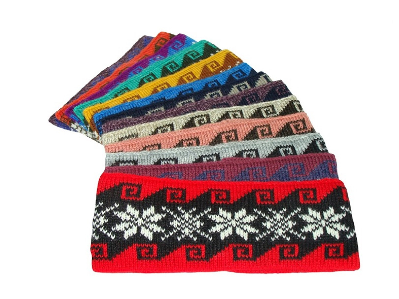 8346dccf9d1 Alpaca Knit Snowflake Assortment Colors Headband 4.5
