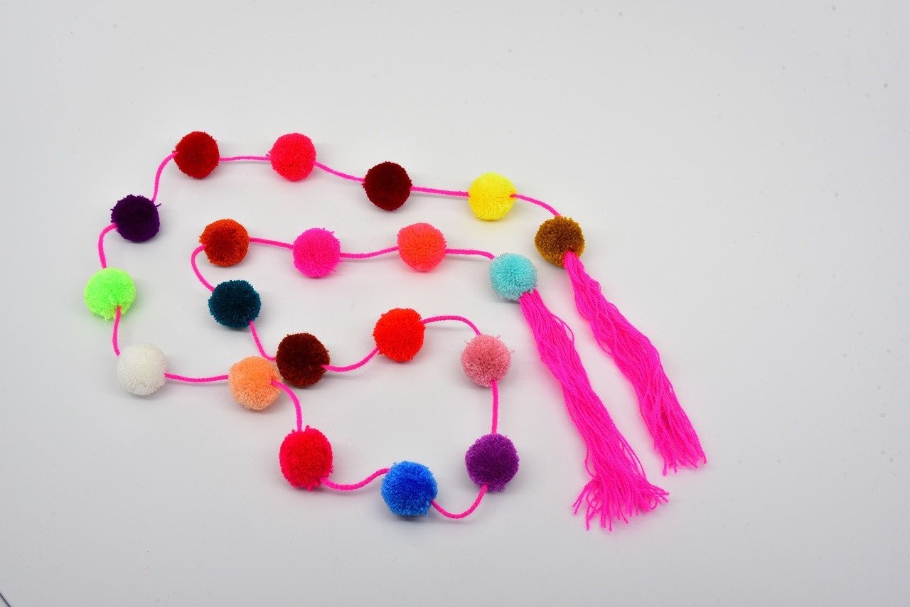 cd01b7cc509 Mexican Decor Ethnic Boho Tribal Home Decor Party Strings with Pom ...