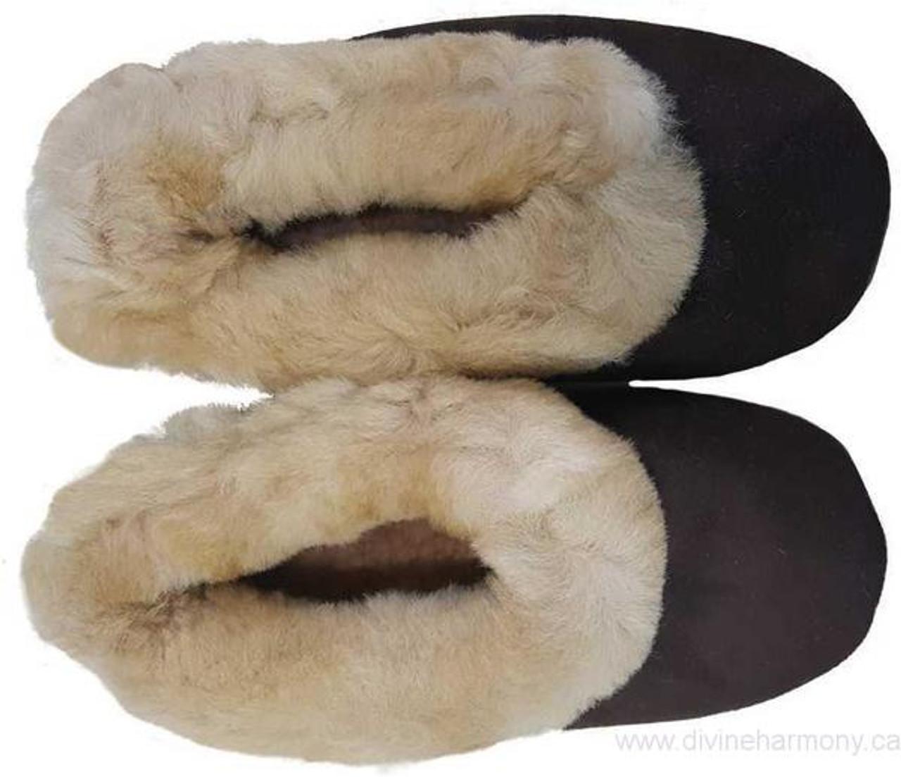 2601f13c6b3 Brown Suede Alpaca Colorful Slippers Multicolor Unisex Size 6-11 ...