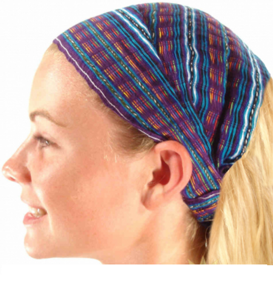 Wide Cotton Headband Bonet Cover One Size Multicolored
