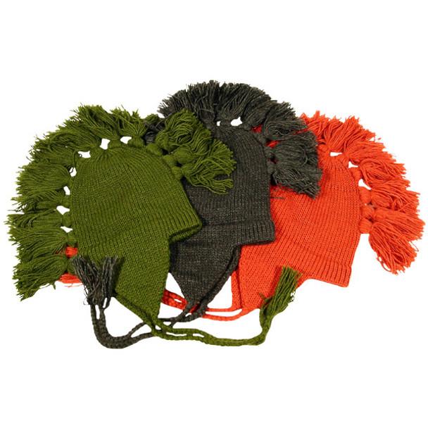 Alpaca Mohawk Chullo Hat Heavy Gauge Solid Colors