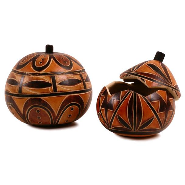 "Gourd Box - Geometric Designs Intricate 5"""