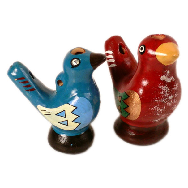 """Assortment of Water Chirp Whistles 3"""" (1..2)"""