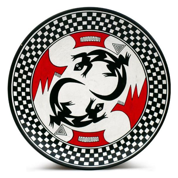 Black & White Mimbres Plate - Lizard
