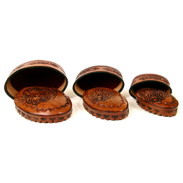 Leather 3-in-1 Box - Oval