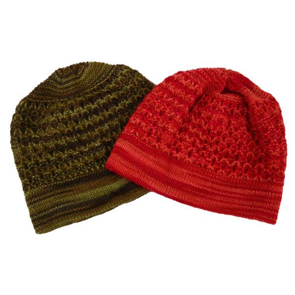 Alpaca Striped Boucle Beanie Hat