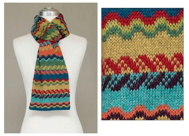 "Fine Knit 100% Alpaca Geometric Designs 9"" x 84"""
