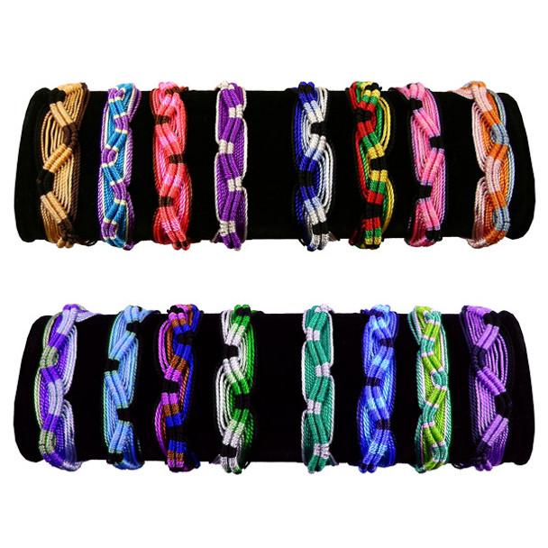 Friendship Bracelets  Wide Acrylic Assortment 50 Unit Pack