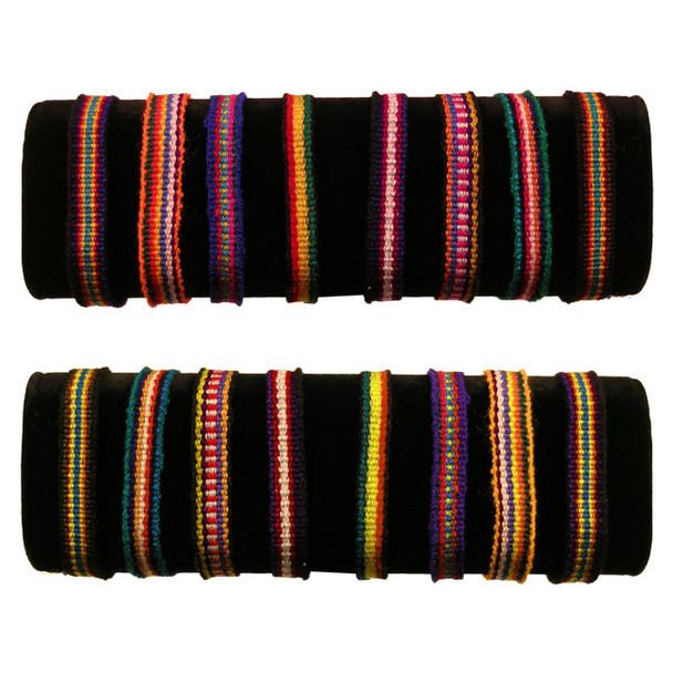 Friendship Bracelets - Woven Cotton Peru Cuzco 50 Unit Pack Bag