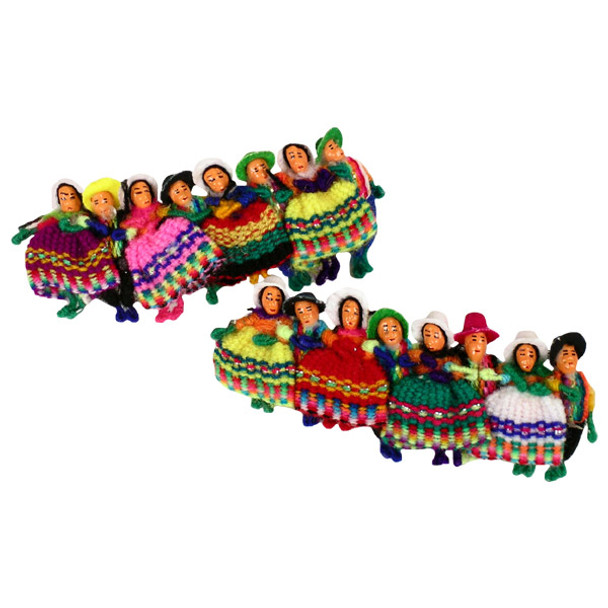Worry Doll Barrette Multicolored Dancers Andes