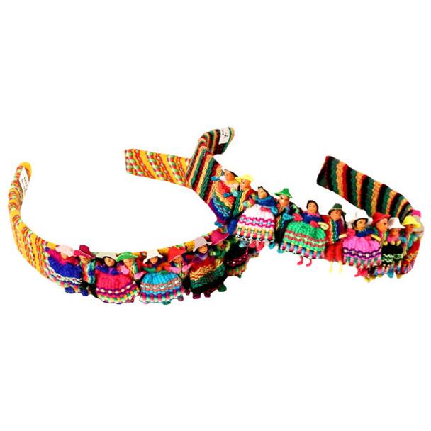 Worry Doll Headband Cotton Multicolored Costume Dancers Peru