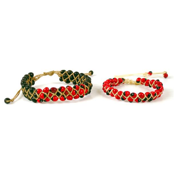 Amazon Huayruro Seed Bracelet Adjustable Wrist