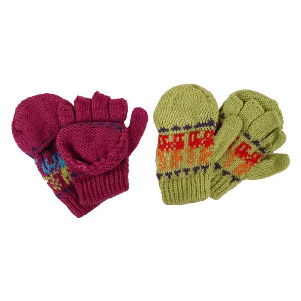 Alpaca Child Glittens Mitten Assorted Colors Peruvian Hand Knit