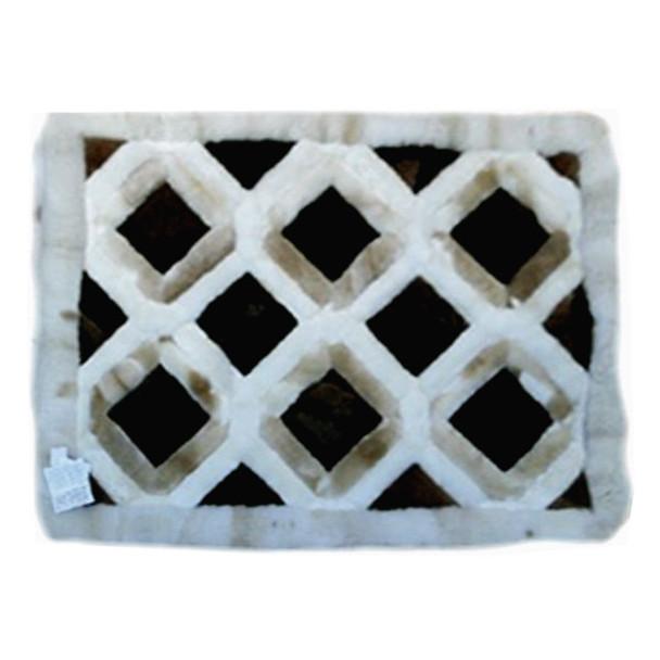 "Alpaca Fur Rug Honeycomb 22"" x 32"" - Design 03"