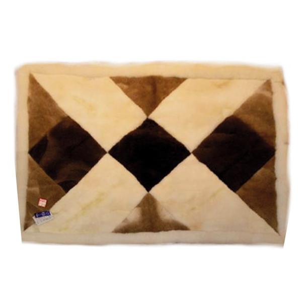 "Alpaca Fur Rug Big X 22"" x 32"" - Design 06"