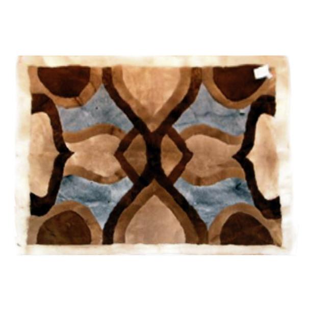 "Alpaca Fur Rug Kaleidoscope 22"" x 32""- Design 12"