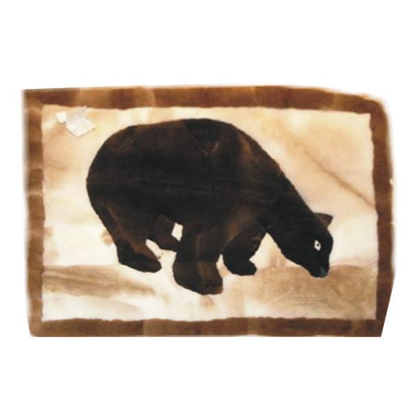 "Alpaca Fur Rug Brown Bear Earth Tones 22"" x 32"" - Design 15"
