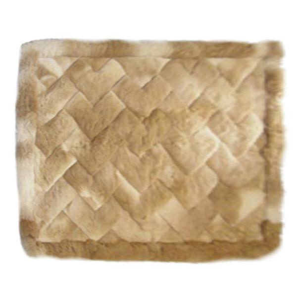 "Alpaca Fur Rug Interwoven 22"" x 32"" - Design 19"
