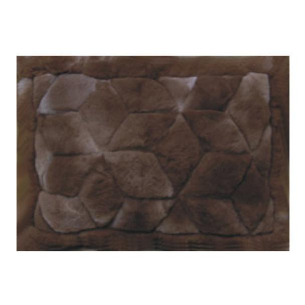 Alpaca Fur Rug 2' x 3' - Design #22 Chocolate Brown Mat