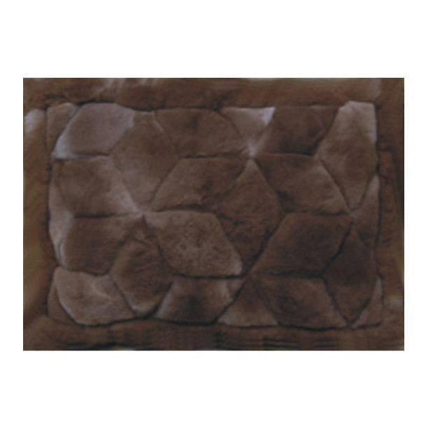 Alpaca Fur Rug 2' x 3' - Design #22 Chocolate Brown Mat