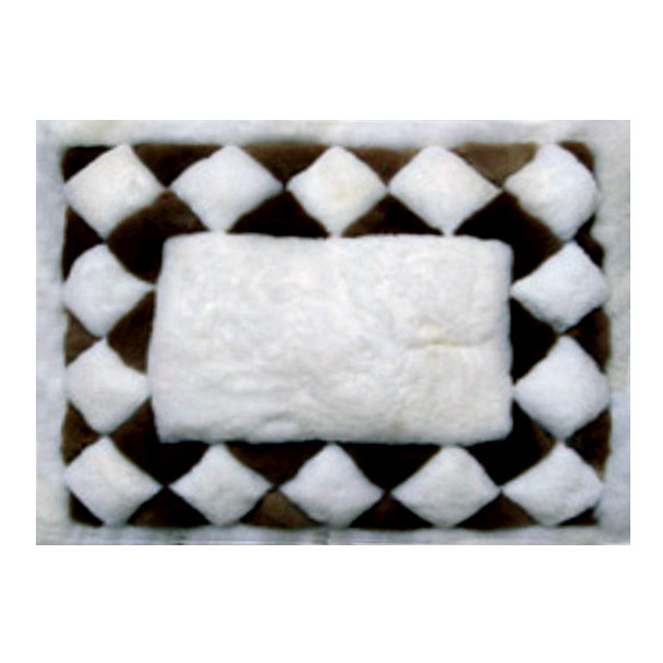 """Alpaca Fur Rug Rhombus Edge 22"""" x 32"""" - Design 24"""