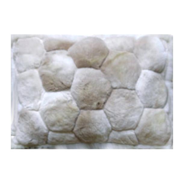 "Alpaca Fur Rug Hexagons Tone On Tone 22"" x 32""- Design 25"