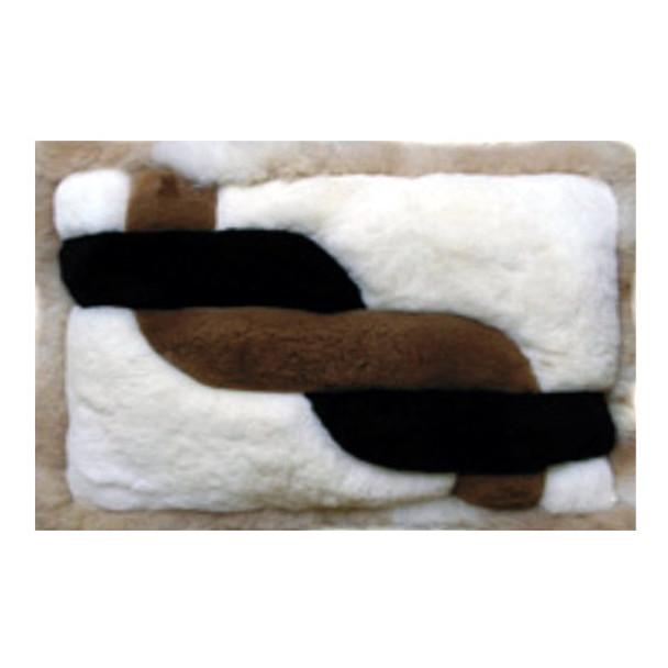 "Alpaca Fur Rug Twisted Rope 22"" x 32"" - Design 26"