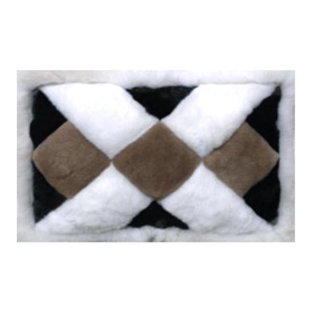 """Alpaca Fur Rug Mat X Pattern 22"""" x 32"""" Size- Design 27"""