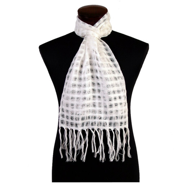 Alpaca 100% Tile Weave Scarf Solid Colors with Fringe