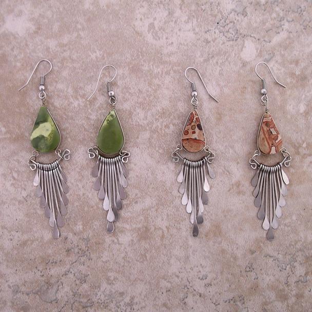 Stone Earrings w/ drops