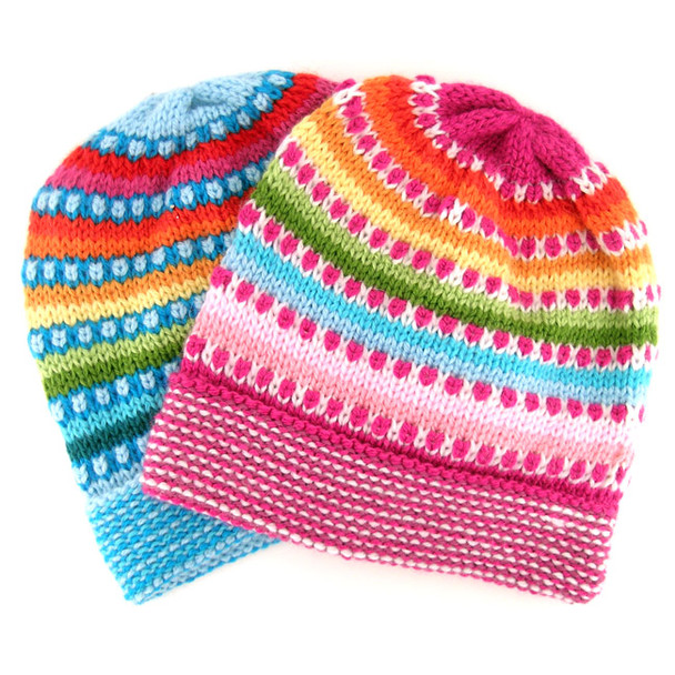 Alpaca Bright Adult Dots Beanie One Size Assorted Colors Extra Light and Soft
