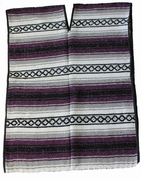Soft and Stylish Large Mexican Falsa Poncho One Size