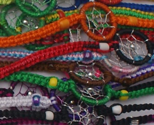 Friendship Bracelets Assorted Colors Pack of 50 Units Multicolored Peru