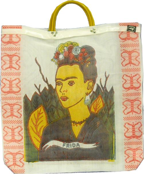 "Frida Kahlo Mesh Market Bag Recycled Fibers 18"" x 18"""