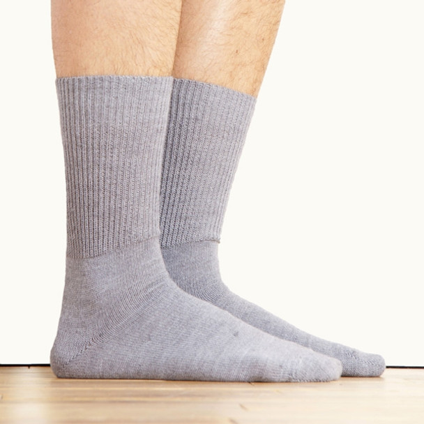 Alpaca Knit Crew Socks Silver Gray