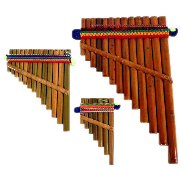 Artisan Made Pan Flute # 2 Peru Classic Zampona