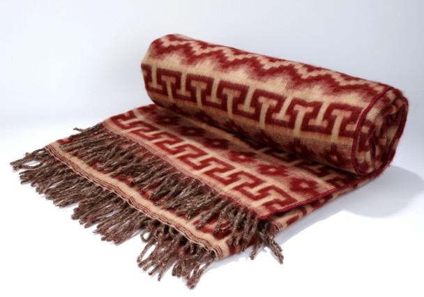 Alpaca Reversible Blanket in Geometrical Patterns 5' x 7'