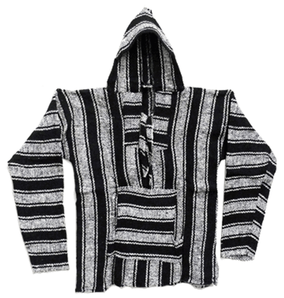 Drug Rug Baja Poncho Hoodie Small Assortment Striped