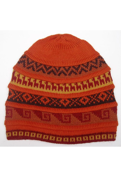 Five Bands Geometric Patterns Beanie Assorted Colors Adult One Size