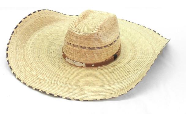 Palm Straw Hat Extra Wide Brim Adjustable Size