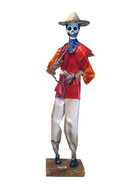 Day of the Dead Paper Mache Decorative Doll 14""