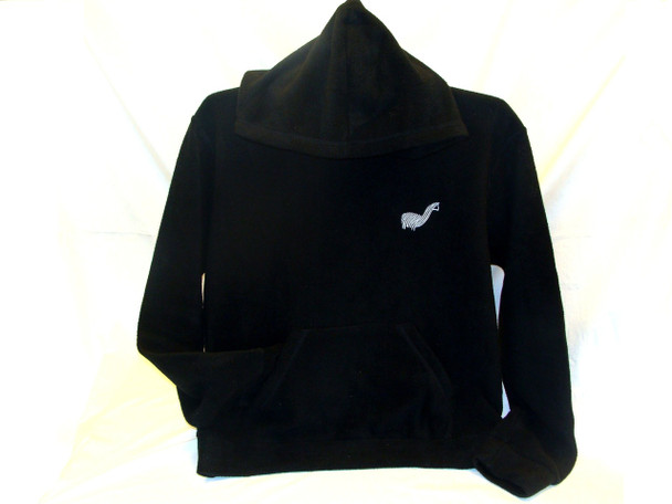 Alpaca Blend Hoodie Baja with Kangaroo Pockets Black Soft Fleece