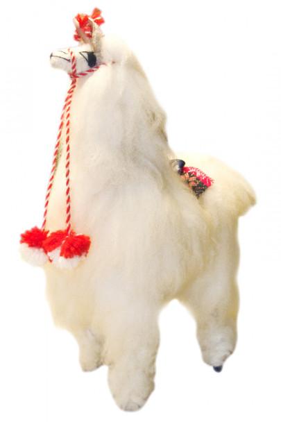 "100% alpaca natural fur artisan produced plush doll 9"" Peru (17)"