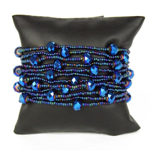 Blue Iris Twelve Strand Bracelet BR146-202