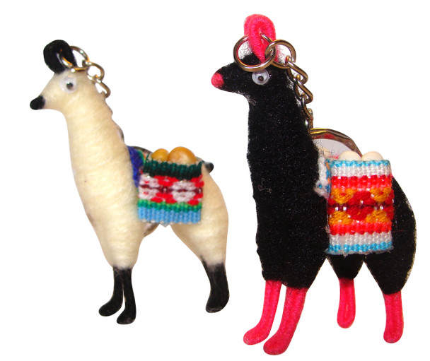 Alpaca wool LLama keyring Key Chain Accessory