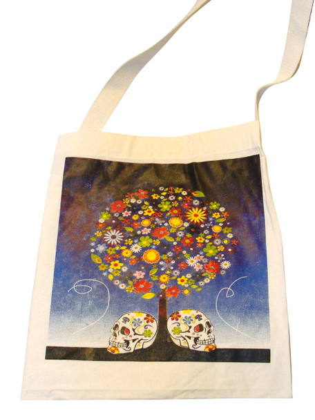 Canvas Bag Tree of Sugar Skulls