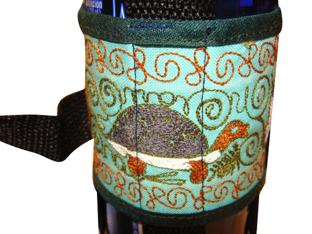 Water bottle Holder with Sewing Machine Embroidery 12 OZ Size
