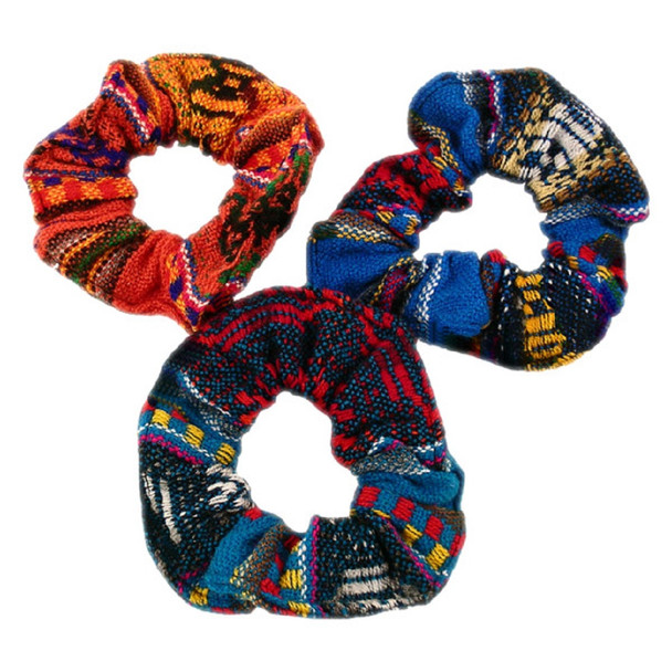 Manta Cotton Scrunchies With Elastic Multicolored Assortment Peru Hair Ties