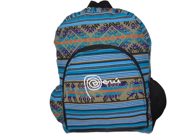 Back Pack with Single Pockets Adult Large Hand Made Fabric